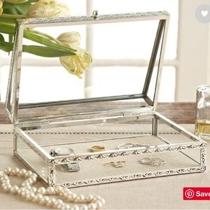 Pottery Barn Antique Silver Jewelry Box